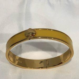 Kate Spade yellow enamel bracelet